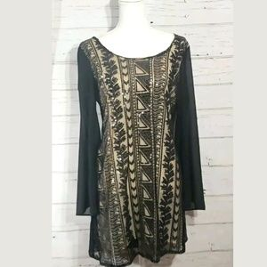 Sequin Hearts Dress Large